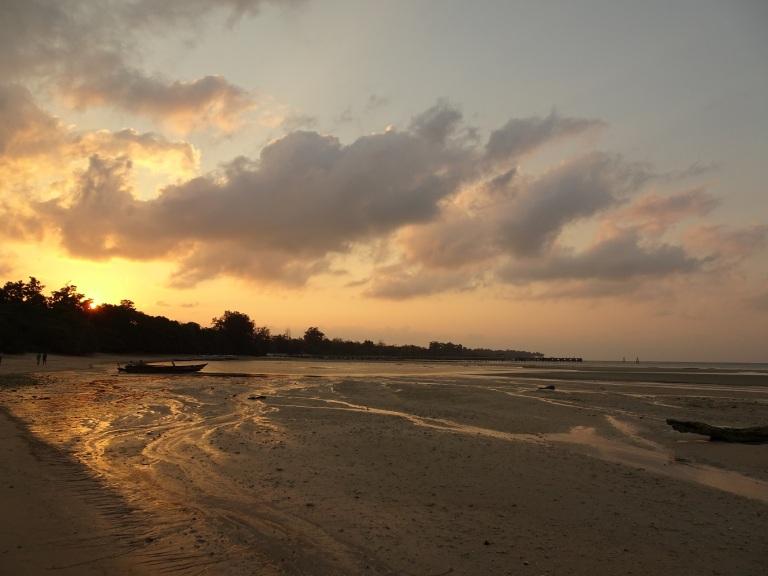 sunset on bharatpur beach